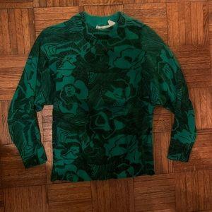 Vintage green high neck sweater